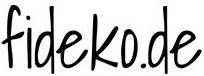 Logo fideko - Handgemachte individualisierbare Taschen, Körbe, Tischsets, Dekoartikel und mehr auf fideko.de der Onlineshop seit 2011