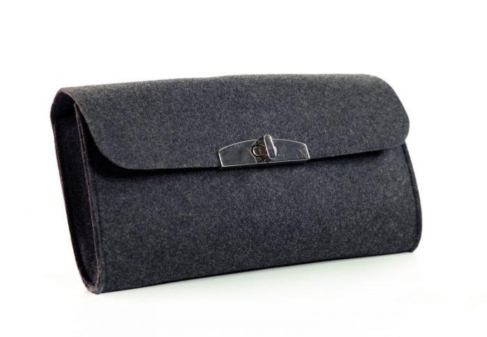 Portemonnaie aus Filz in grau - Handgemachte individualisierbare Taschen, Körbe, Tischsets, Dekoartikel und mehr auf fideko.de der Onlineshop seit 2011