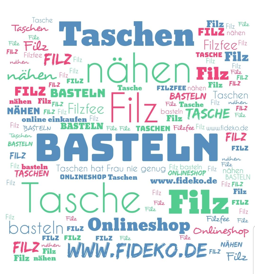 WordCloud Basteln - Handgemachte individualisierbare Taschen, Körbe, Tischsets, Dekoartikel und mehr auf fideko.de der Onlineshop seit 2011