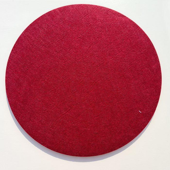 Roter Filz-Untersetzter rund - Handgemachte individualisierbare Taschen, Körbe, Tischsets, Dekoartikel und mehr auf fideko.de der Onlineshop seit 2011