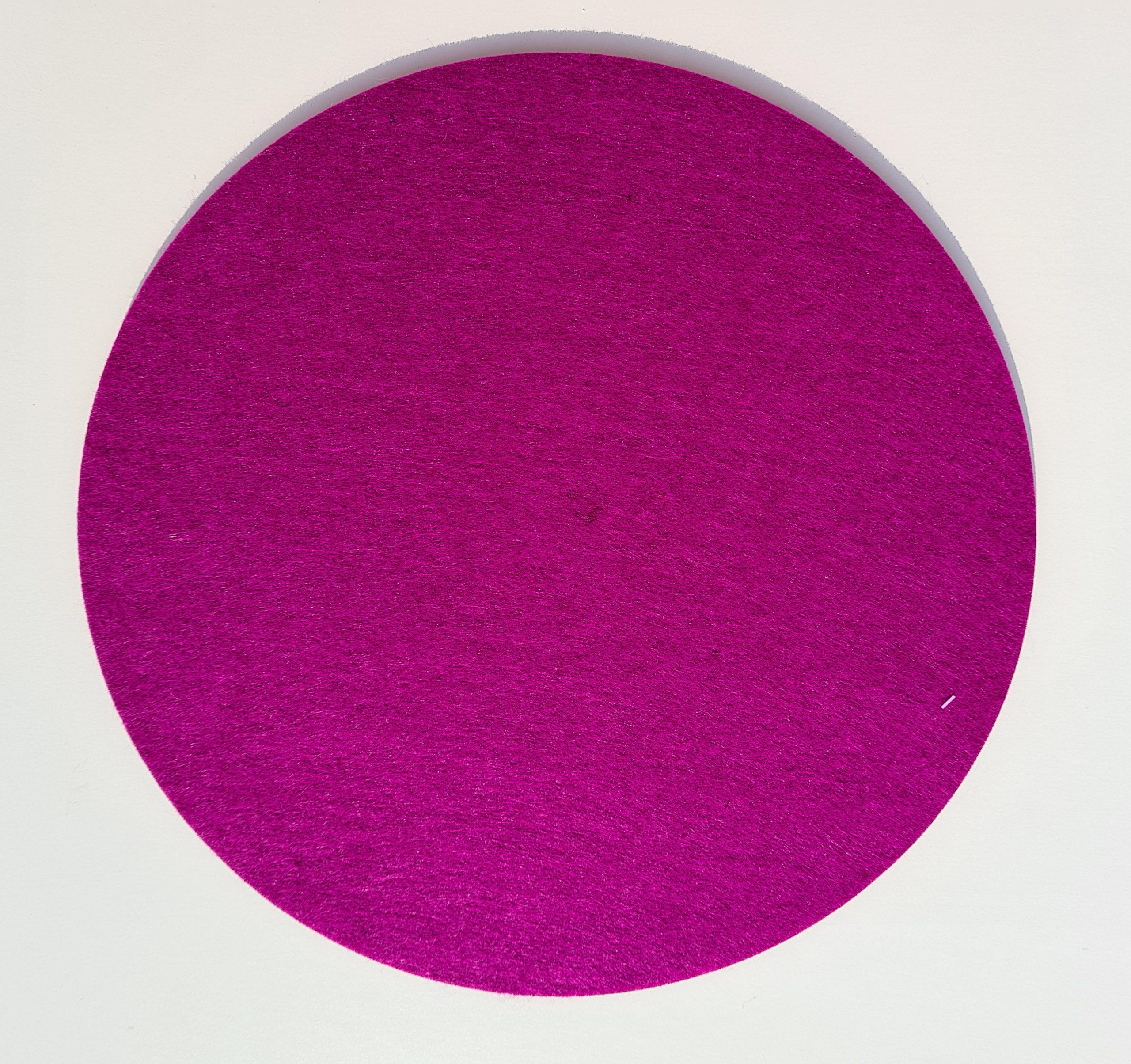 Pinker Filz-Untersetzter rund - Handgemachte individualisierbare Taschen, Körbe, Tischsets, Dekoartikel und mehr auf fideko.de der Onlineshop seit 2011