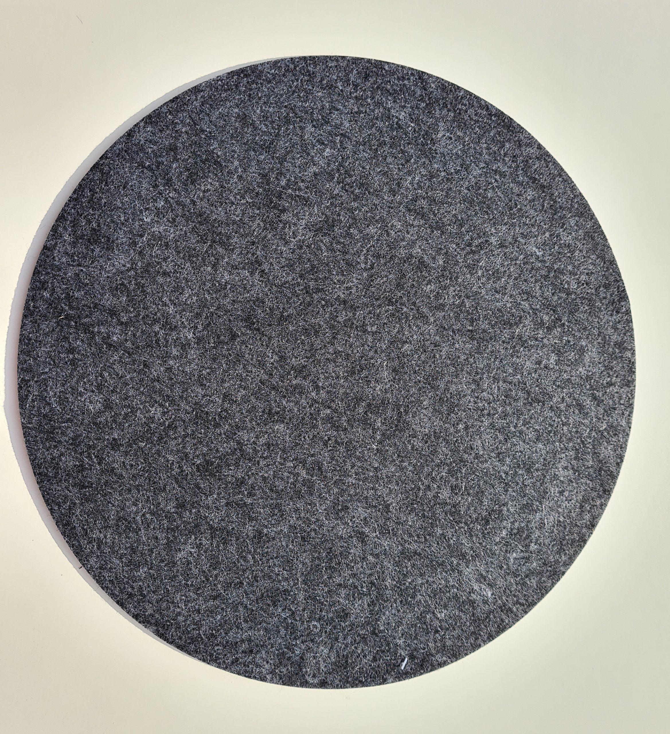 Schwarzer Filz-Untersetzter rund - Handgemachte individualisierbare Taschen, Körbe, Tischsets, Dekoartikel und mehr auf fideko.de der Onlineshop seit 2011