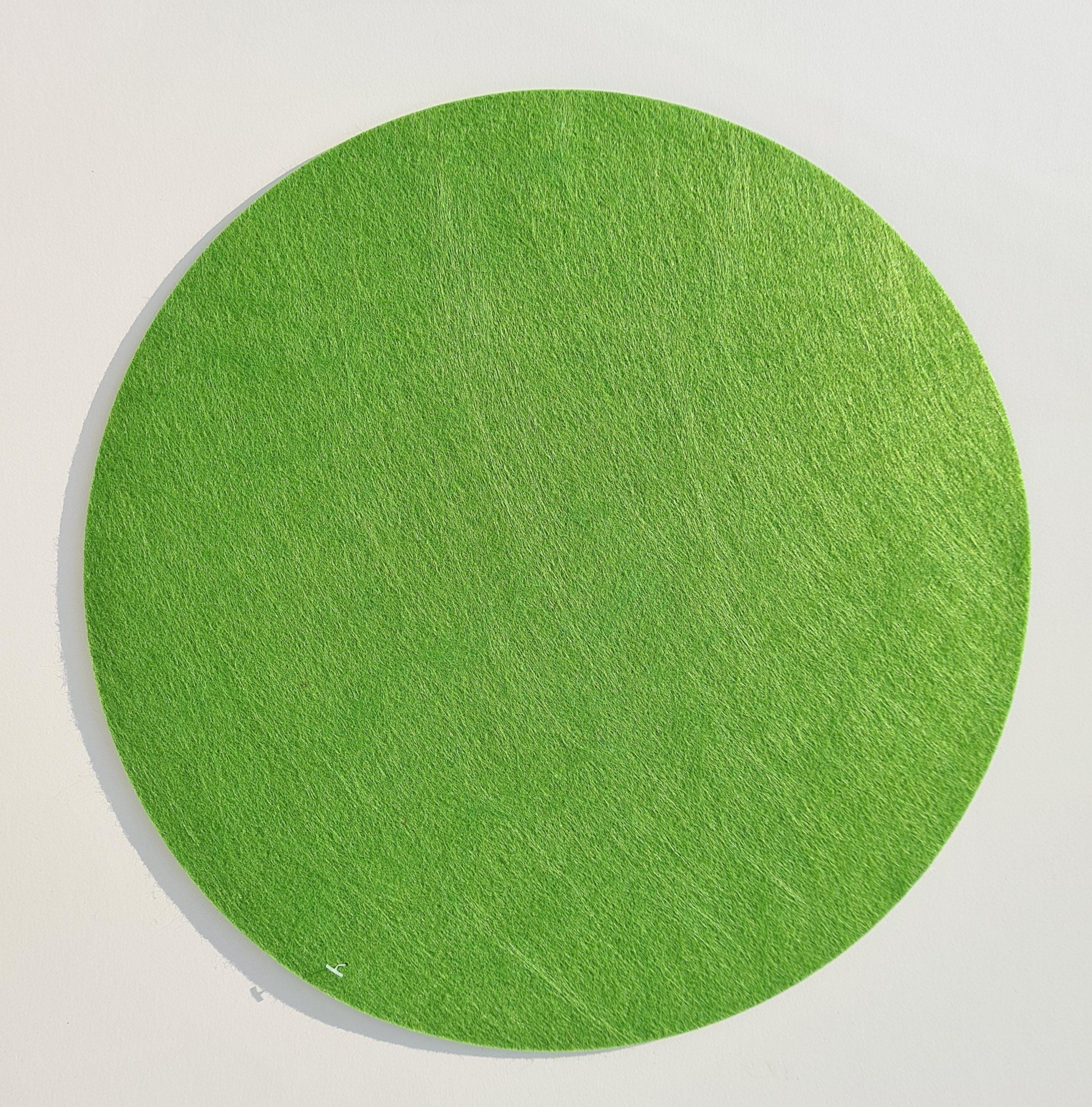 Grüner Filz-Untersetzter rund - Handgemachte individualisierbare Taschen, Körbe, Tischsets, Dekoartikel und mehr auf fideko.de der Onlineshop seit 2011