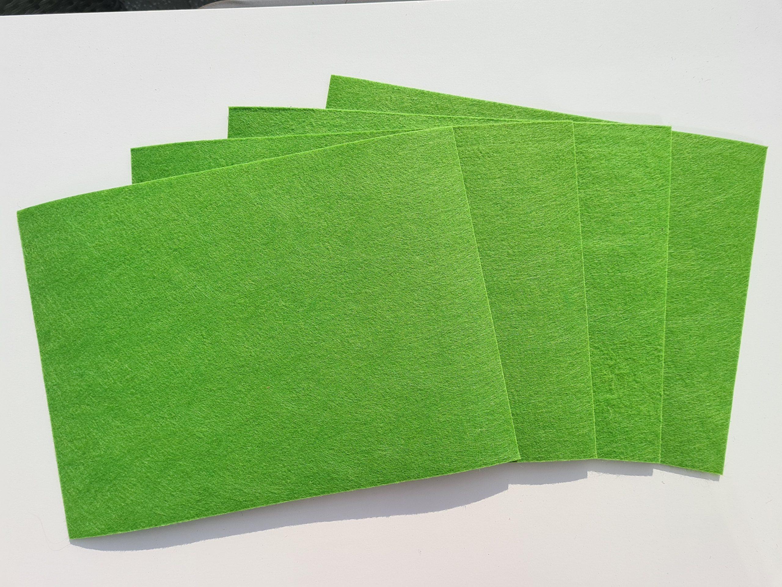Grüner Filz-Untersetzter quadratisch - Handgemachte individualisierbare Taschen, Körbe, Tischsets, Dekoartikel und mehr auf fideko.de der Onlineshop seit 2011