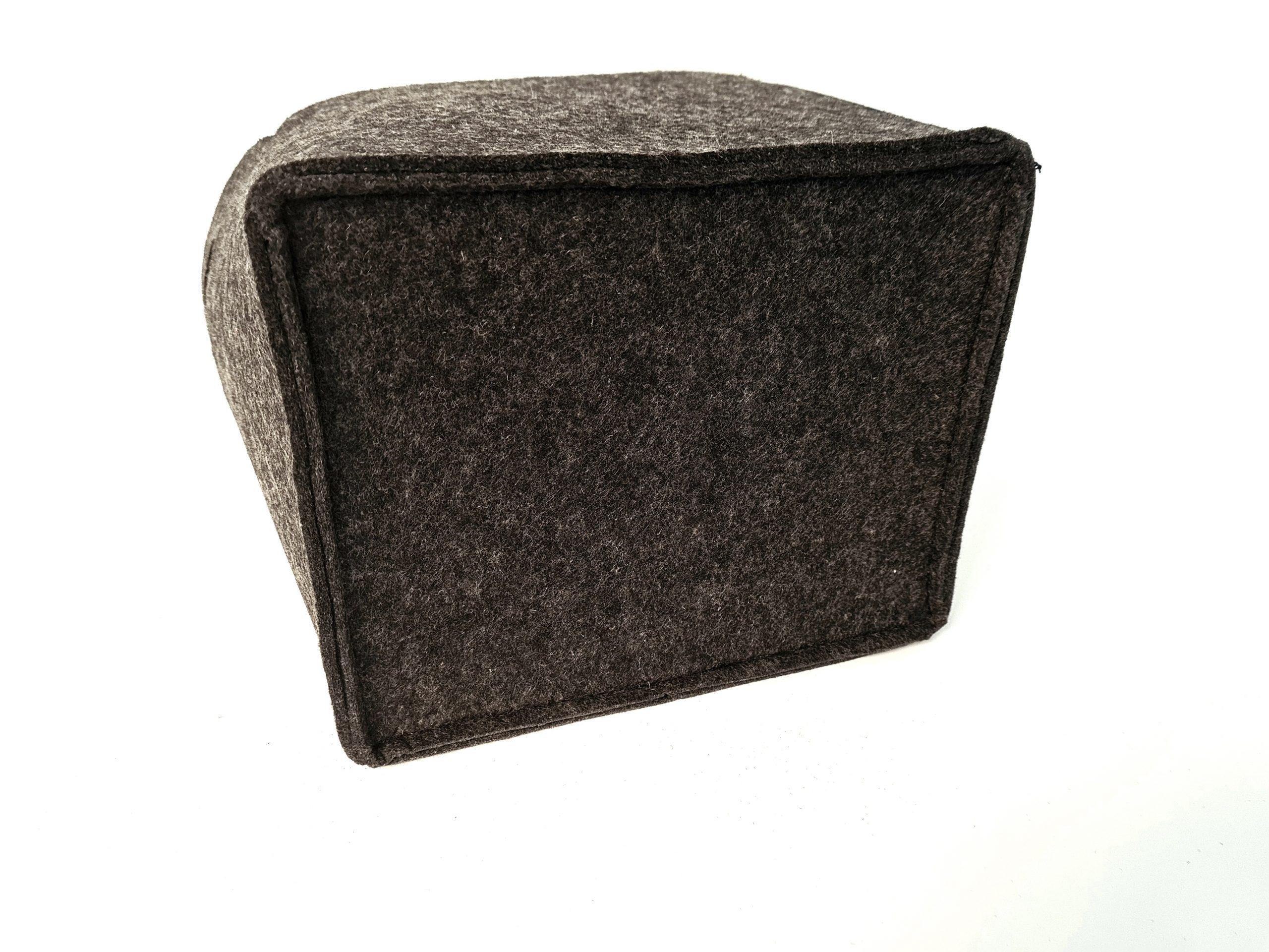 Filzbox in schwarz mit Henkeln - Handgemachte individualisierbare Taschen, Körbe, Tischsets, Dekoartikel und mehr auf fideko.de der Onlineshop seit 2011