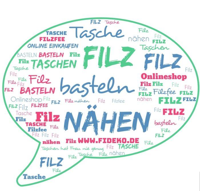 WordCloud Filz - Handgemachte individualisierbare Taschen, Körbe, Tischsets, Dekoartikel und mehr auf fideko.de der Onlineshop seit 2011
